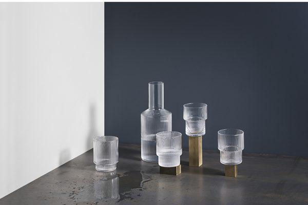 ferm Living – Ripple Karaffe & Gläser