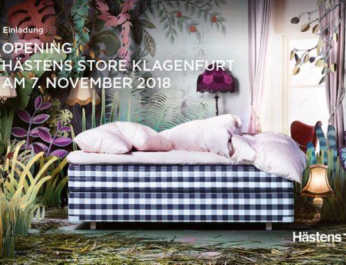 Feiern Sie mit uns die Eröffnung des Hästens Store Klagenfurt am Mittwoch, den 7. November 2018, ab 18:30 Uhr.